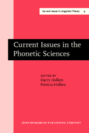 image of Current Issues in the Phonetic Sciences