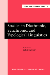 image of Studies in Diachronic, Synchronic, and Typological Linguistics