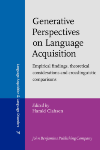 image of Generative Perspectives on Language Acquisition
