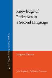 image of Knowledge of Reflexives in a Second Language