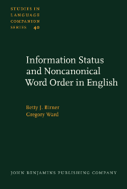 image of Information Status and Noncanonical Word Order in English
