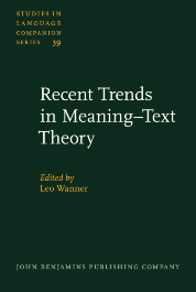 image of Recent Trends in Meaning–Text Theory