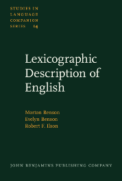 image of Lexicographic Description of English