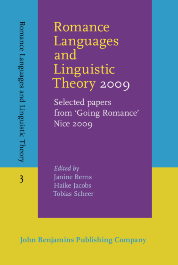 image of Romance Languages and Linguistic Theory 2009