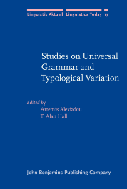 image of Studies on Universal Grammar and Typological Variation