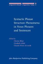 image of Syntactic Phrase Structure Phenomena in Noun Phrases and Sentences