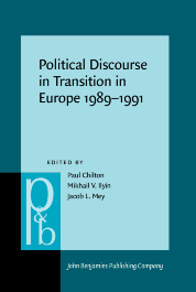 image of Political Discourse in Transition in Europe 1989–1991