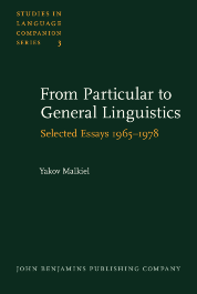 image of From Particular to General Linguistics