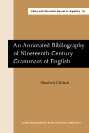 image of An Annotated Bibliography of Nineteenth-Century Grammars of English