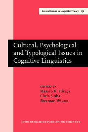 image of Cultural, Psychological and Typological Issues in Cognitive Linguistics