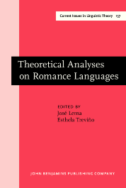 image of Theoretical Analyses on Romance Languages