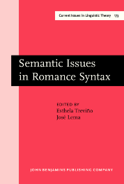 image of Semantic Issues in Romance Syntax