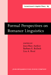 image of Formal Perspectives on Romance Linguistics