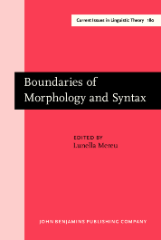image of Boundaries of Morphology and Syntax