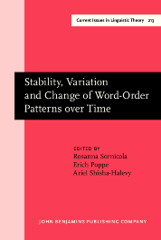 image of Stability, Variation and Change of Word-Order Patterns over Time