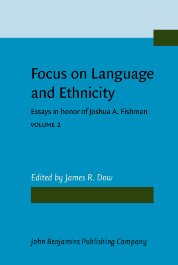 image of Focus on Language and Ethnicity