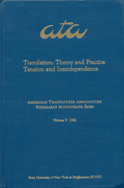 image of Translation: Theory and Practice, Tension and Interdependence