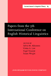 image of Papers from the 5th International Conference on English Historical Linguistics