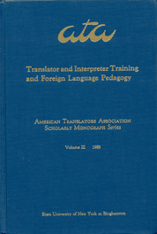 image of Translator and Interpreter Training and Foreign Language Pedagogy