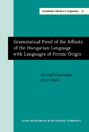 image of Grammatical Proof of the Affinity of the Hungarian Language with Languages of Fennic Origin (Göttingen: Dieterich, 1799)
