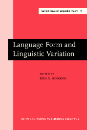 image of Language Form and Linguistic Variation