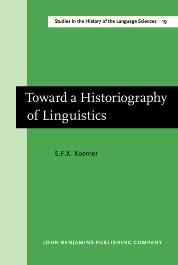 image of Toward a Historiography of Linguistics