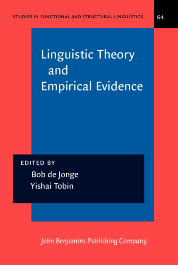 image of Linguistic Theory and Empirical Evidence