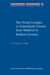image of The Verbal Complex in Subordinate Clauses from Medieval to Modern German
