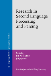 image of Research in Second Language Processing and Parsing