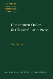 image of Constituent Order in Classical Latin Prose