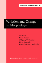 image of Variation and Change in Morphology