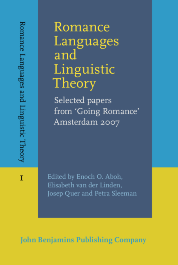 image of Romance Languages and Linguistic Theory