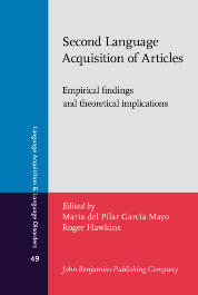 image of Second Language Acquisition of Articles