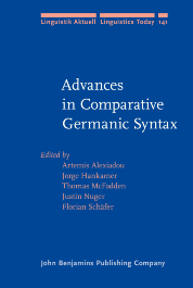 image of Advances in Comparative Germanic Syntax