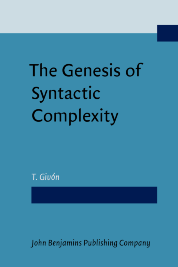 image of The Genesis of Syntactic Complexity