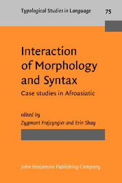image of Interaction of Morphology and Syntax