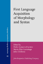 image of First Language Acquisition of Morphology and Syntax