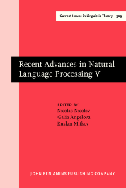 image of Recent Advances in Natural Language Processing V