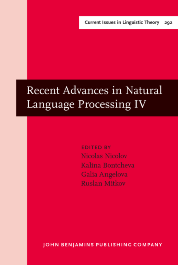 image of Recent Advances in Natural Language Processing IV