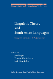 image of Linguistic Theory and South Asian Languages