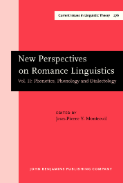 image of New Perspectives on Romance Linguistics