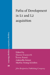 image of Paths of Development in L1 and L2 acquisition