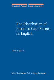 image of The Distribution of Pronoun Case Forms in English