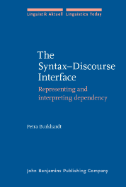 image of The Syntax–Discourse Interface