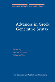 image of Advances in Greek Generative Syntax