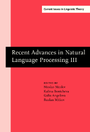 image of Recent Advances in Natural Language Processing III