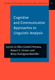image of Cognitive and Communicative Approaches to Linguistic Analysis