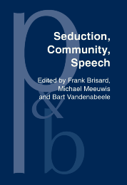 image of Seduction, Community, Speech