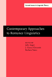 image of Contemporary Approaches to Romance Linguistics
