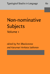 image of Non-nominative Subjects